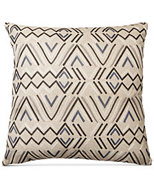 "LAST ACT! Hallmart Collectibles Embroidered Linen 18"" Square Decorative Pillow"