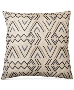 """Last Act! Hallmart Collectibles Embroidered Linen 18"""" Square Decorative Pillow 5374292"""