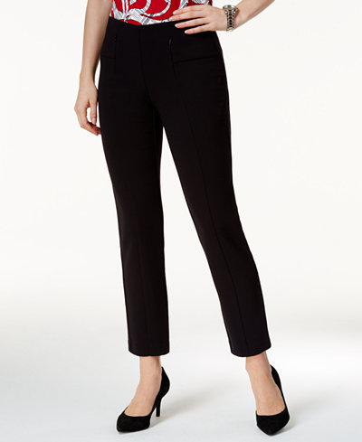 Alfani Mid-Rise Slim-Leg Pants, Created for Macy's