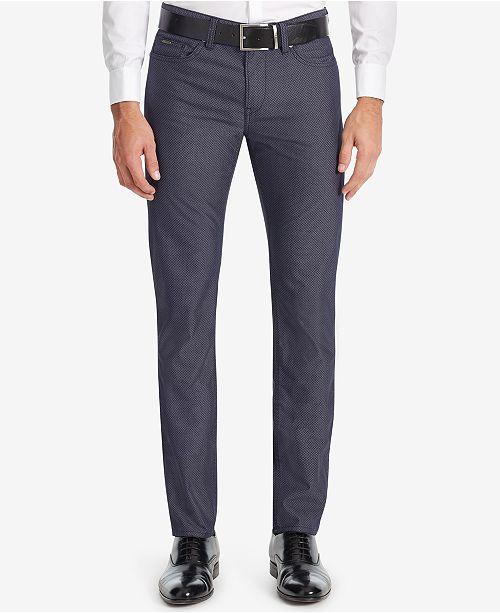 Hugo Boss BOSS Men's Slim-Fit Diamond-Print Stretch Jeans
