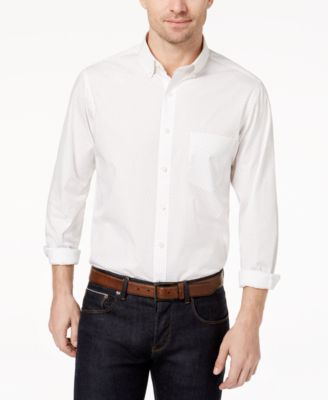 Image of Club Room Long-Sleeve Dot-Print Stretch Shirt, Created for Macy's