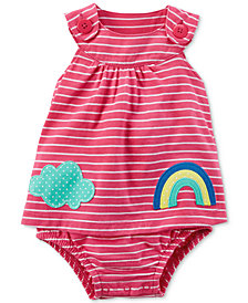 Carter's Striped Cotton Skirted Romper, Baby Girls
