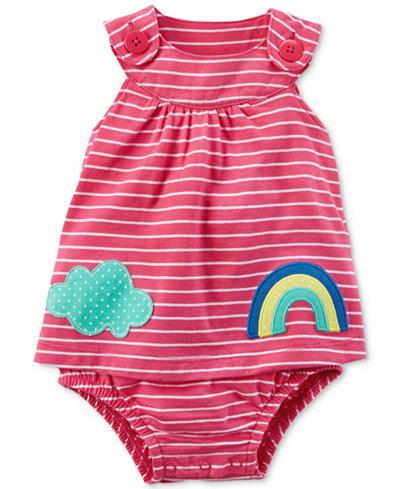 Carter's Striped Cotton Skirted Romper, Baby Girls