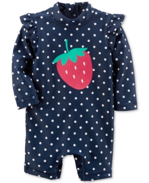 Carters 1Pc Strawberry Rash Guard Swimsuit Baby Girls (024 months)