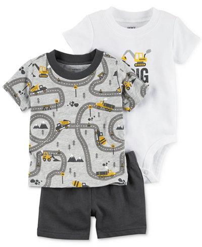 Carter's 3-Pc. T-Shirt, Shorts & Bodysuit Cotton Set, Baby Boys