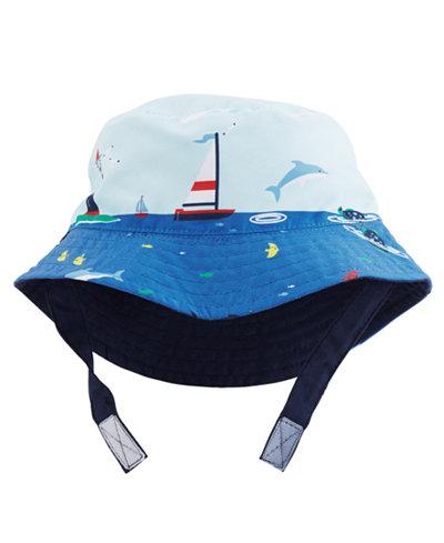 Carter's Reversible Sailboat-Print Bucket Hat, Baby Boys