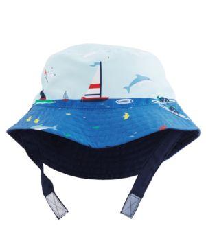 Carter's Reversible Sailboat-Print Bucket Hat, Baby Boys thumbnail