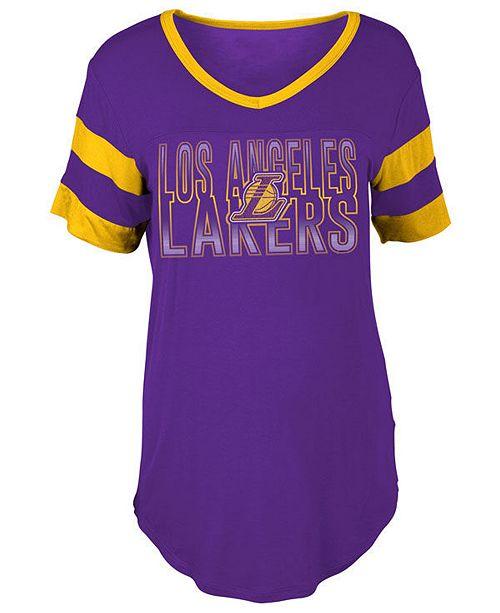 5th   Ocean Women s Los Angeles Lakers Hang Time Glitter T-Shirt ... ebb6517fb