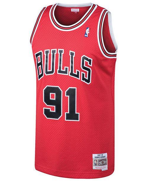 huge discount 168c9 224be Men's Dennis Rodman Chicago Bulls Hardwood Classic Swingman Jersey