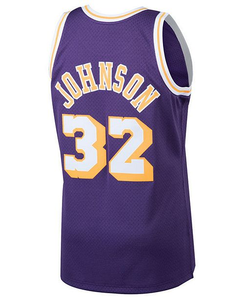 da900651b5d ... Swingman Jersey; Mitchell & Ness Men's Magic Johnson Los Angeles Lakers  Hardwood Classic Swingman ...