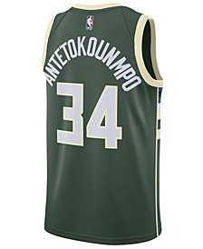 Nike Men's Giannis Antetokounmpo Milwaukee Bucks Icon Swingman Jersey