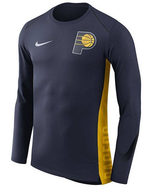 hot sale online 66eff c2f4e Nike Men's Indiana Pacers Hyperlite Shooter Long Sleeve T ...