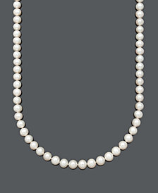"Belle de Mer AA+ 22"" Cultured Freshwater Pearl Strand Necklace (8-1/2-9-1/2-10mm) in 14k Gold"