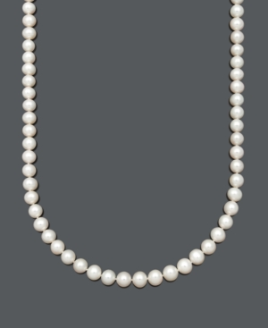 Belle de Mer Aa+ Cultured Freshwater Pearl Strand Necklace (8-1/2-9-1/2-10mm) in 14k Gold