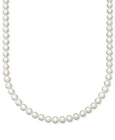 Cultured Freshwater Pearl Strand Necklace (7-1/2-8-1/2mm) in 14k Gold