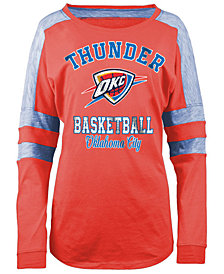 5th & Ocean Women's Oklahoma City Thunder Space Dye Long Sleeve T-Shirt