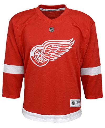 adidas Detroit Red Wings Blank Replica Jersey, Big Boys (8-20)