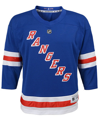 Authentic NHL Apparel New York Rangers Blank Replica Jersey, Infants ...
