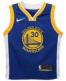 Nike Stephen Curry Golden State Warriors Icon Replica Jersey, Little Boys (4-7)