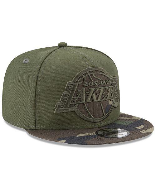 06f39a92820 ... New Era Los Angeles Lakers Operation Camo 9FIFTY Snapback Cap ...