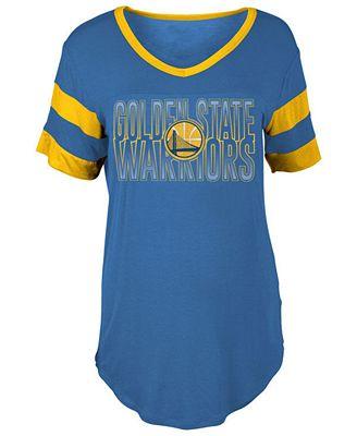 5th & Ocean Women's Golden State Warriors Hang Time Glitter T-Shirt