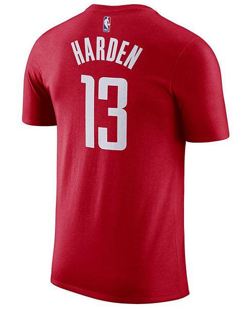 28359e29 Nike Men's James Harden Houston Rockets Name & Number Player T-Shirt ...