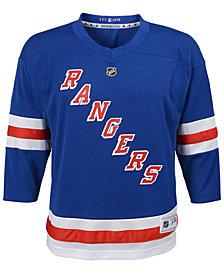 Authentic NHL Apparel New York Rangers Blank Replica Jersey, Big Boys (8-20)
