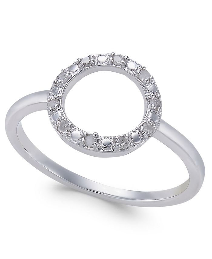Macy's - Diamond Circle Ring (1/10 ct. t.w.) in Sterling Silver