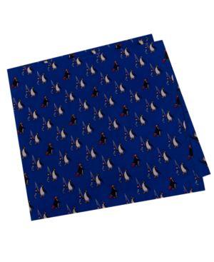 Tommy Hilfiger Men's Penguin Fishing Print Silk Pocket Square