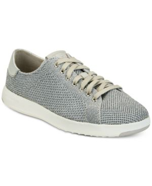 Women'S Grandpro Stitchlite Lace-Up Tennis Sneakers, Metallic Silver