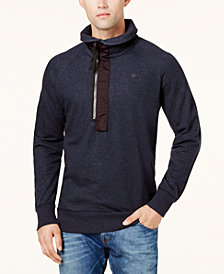 G-Star RAW Men's Pieced Half-Zip Sweatshirt