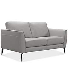 "Renleigh 61"" Leather Loveseat, Created for Macy's"