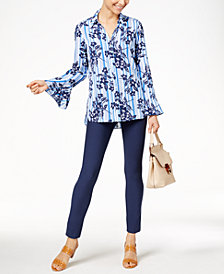 NY Collection Bell-Sleeve Blouse & ECI Pull-On Pants