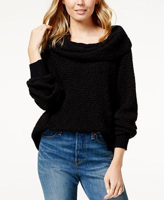 Free People By Your Side Slouchy Sweater Sweaters Juniors Macys