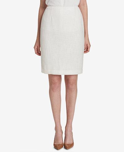 Calvin Klein Tweed Pencil Skirt, Regular & Petite