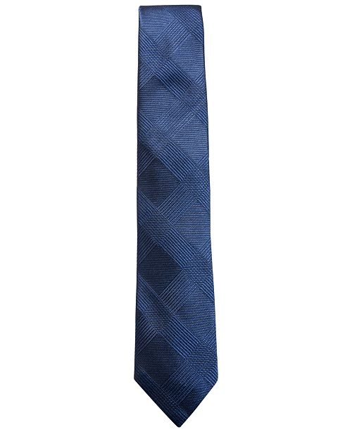 Ryan Seacrest Distinction Men's Malta Plaid Slim Silk Tie, Created for Macy's