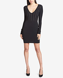 GUESS Studded Knit Bandage Dress
