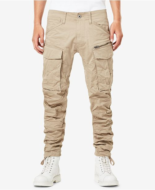 808356f36f8 G-Star Raw Men's Rovic 3D Slim-Fit Tapered Cargo Pants & Reviews ...