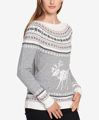 Tommy Hilfiger Fair Isle Deer Sweater, Created for Macy's ...