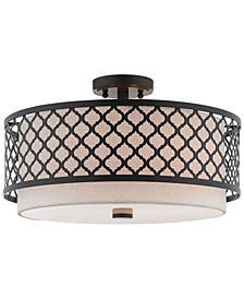 "Arabesque 3-Light 18"" Semi Flush"