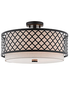 "Livex Arabesque 3-Light 18"" Semi Flush"