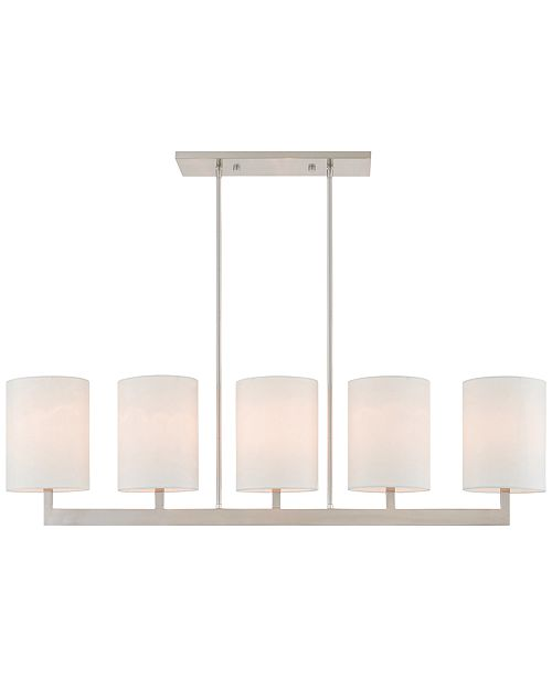 Livex Hayworth 5-Light Linear Chandelier