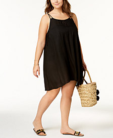 Raviya Plus Size Crochet-Inset Cover-Up Dress