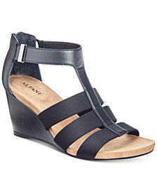 Alfani Women's Pearrl Wedge Sandals, Created for Macy's