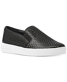 MICHAEL Michael Kors Keaton Star-Perforated Slip-On Sneakers, Created for Macy's