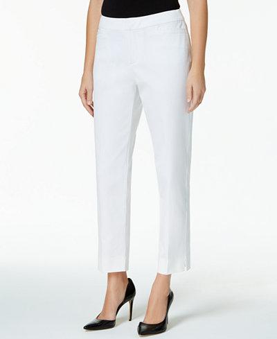 Charter Club Petite Tummy-Control Slim-Leg Pants, Created for Macy's