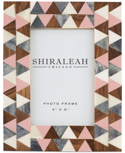 Shiraleah Griggio Triangle Inlay 4'' x 6'' Picture Frame
