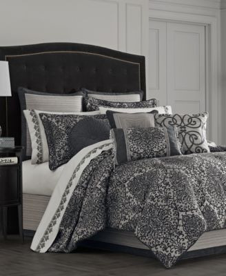Raffaella Graphite 4-Pc. Queen Comforter Set