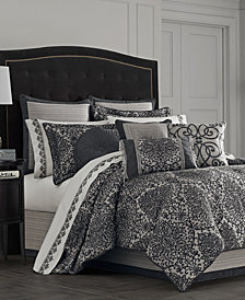 J Queen New York Raffaella Graphite Comforter Sets