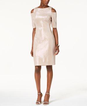 Vince Camuto Cold-Shoulder Sheath Dress 4797121